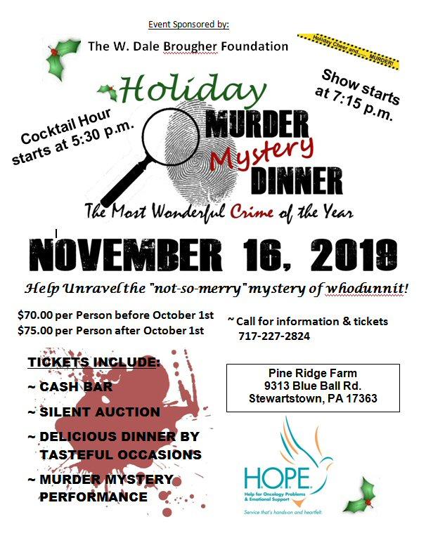 Holiday Murder Mystery Dinner