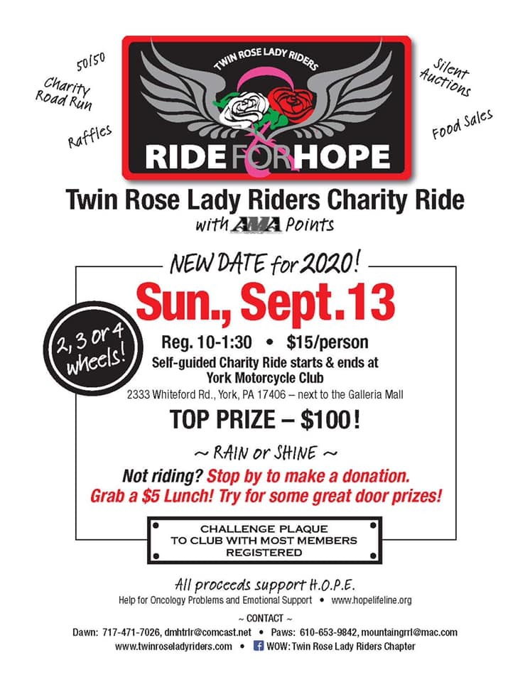 Twin Rose Lady Riders Ride for H.O.P.E.